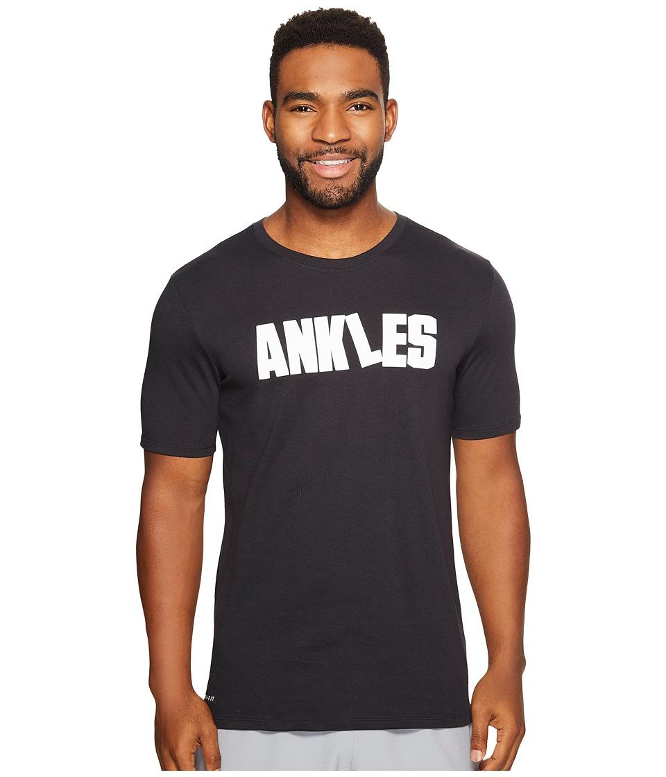 Nike Dry Ankles T-Shirt (Black/Black) Men