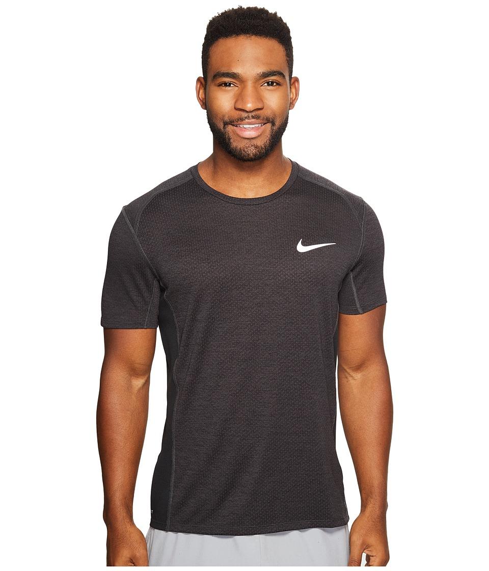 Nike - Dry Miler Short Sleeve Running Top (Black Pine/Heather/Black) Men's Clothing