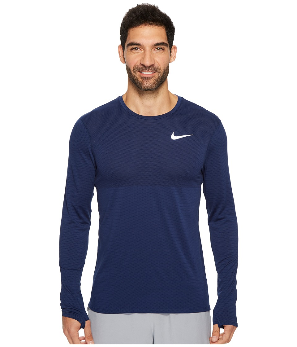 Nike - Zonal Cooling Relay Long Sleeve Running Top (Binary Blue) Men's Clothing