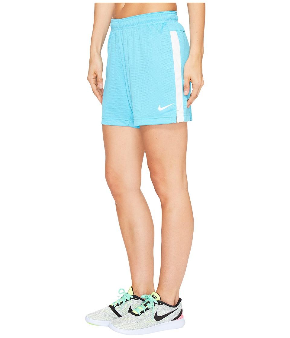 Nike Dri-FITtm Academy Knit Shorts (Chlorine Blue/White/White) Women