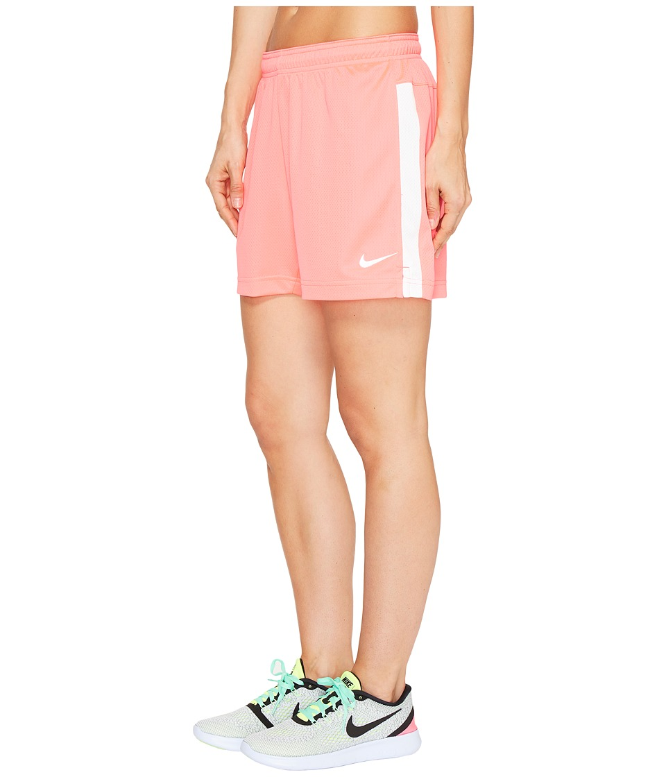 Nike Dri-FITtm Academy Knit Shorts (Racer Pink/White/White) Women