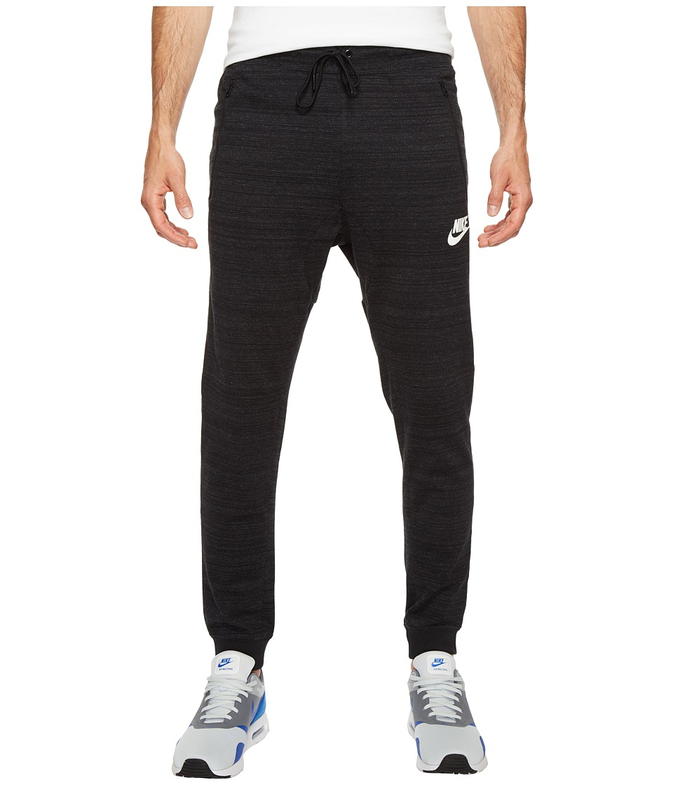 Nike Sportswear Advance 15 Knit Jogger (Black/Heather/White) Men