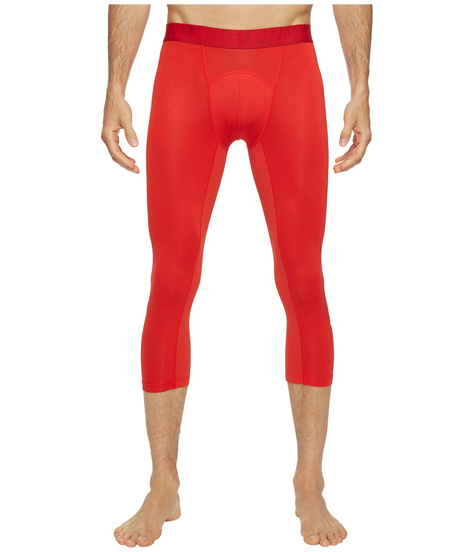 Nike Pro Cool 3/4 Compression Tight (University Red/Gym Red/White) Men
