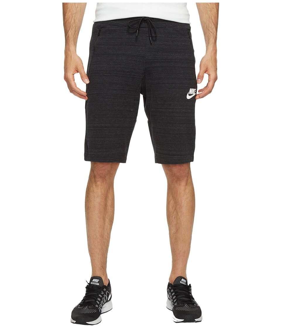 Nike Sportswear Advance 15 Knit Short (Black/Heather/White) Men