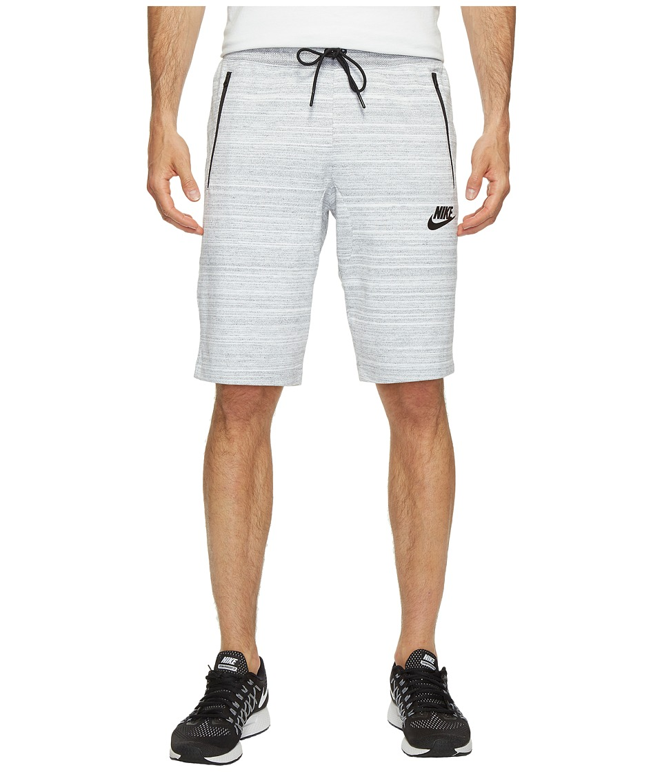 Nike Sportswear Advance 15 Knit Short (White/Heather/Black) Men