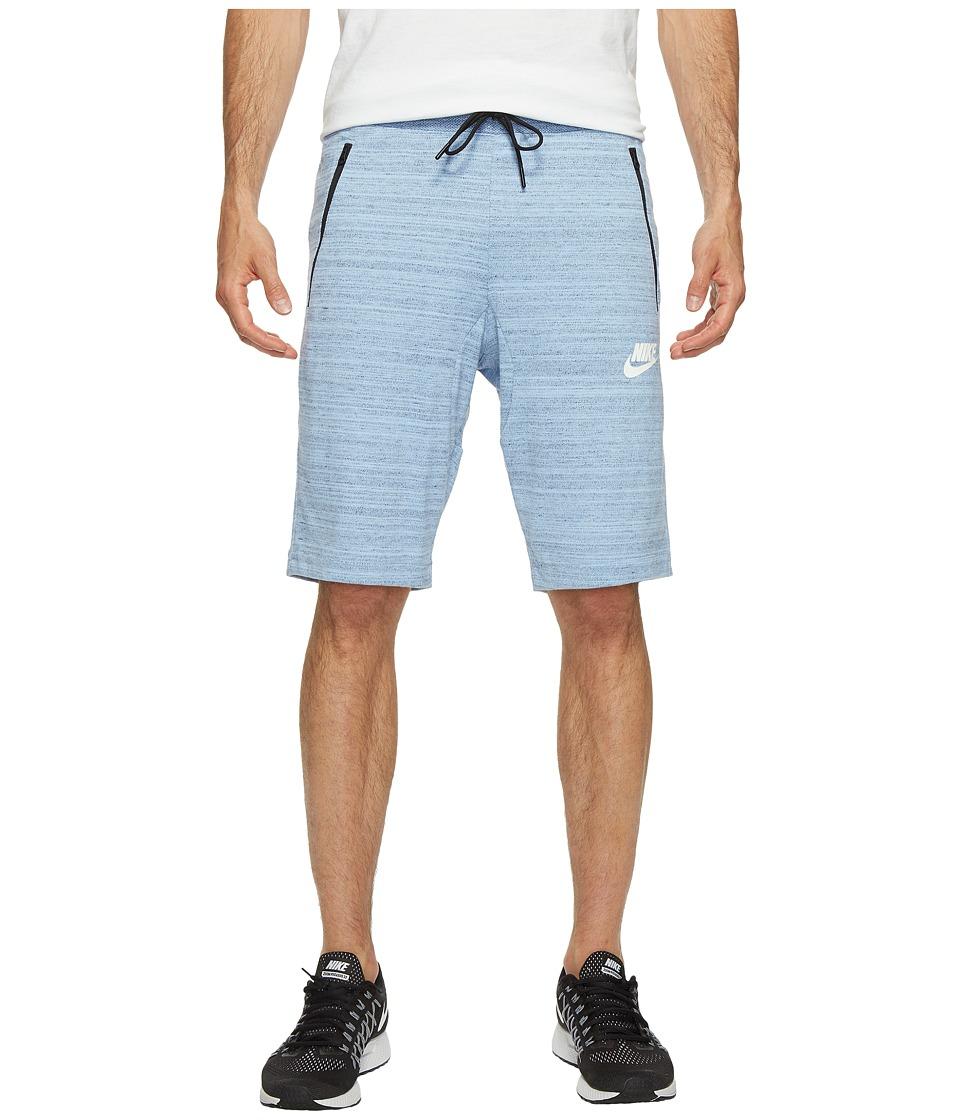 Nike Sportswear Advance 15 Knit Short (Aluminum/Heather/White) Men