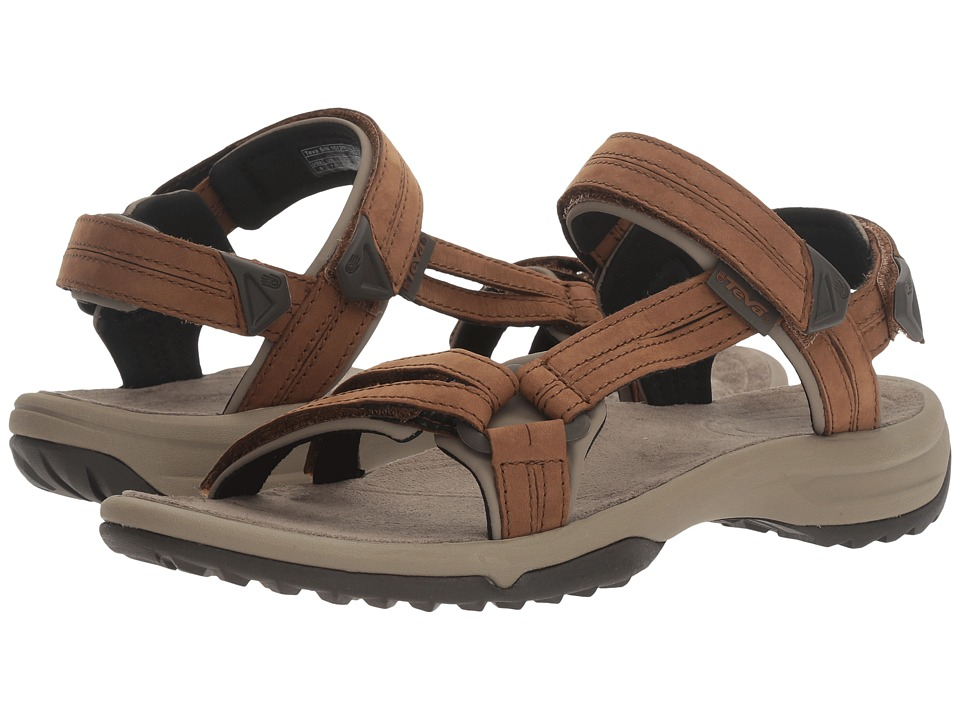 Teva Terra Fi Lite Leather (Brown) Women's Shoes