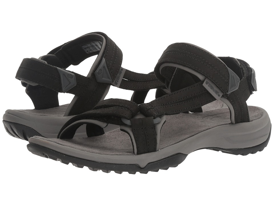 Teva Terra Fi Lite Leather (Black) Women's Shoes