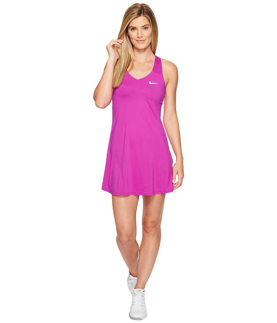 Nike Court Dry Tennis Dress (Vivid Purple/White) Women