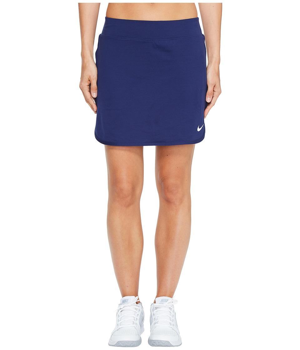 Nike Court Pure 17 Tennis Skirt (Binary Blue/White) Women