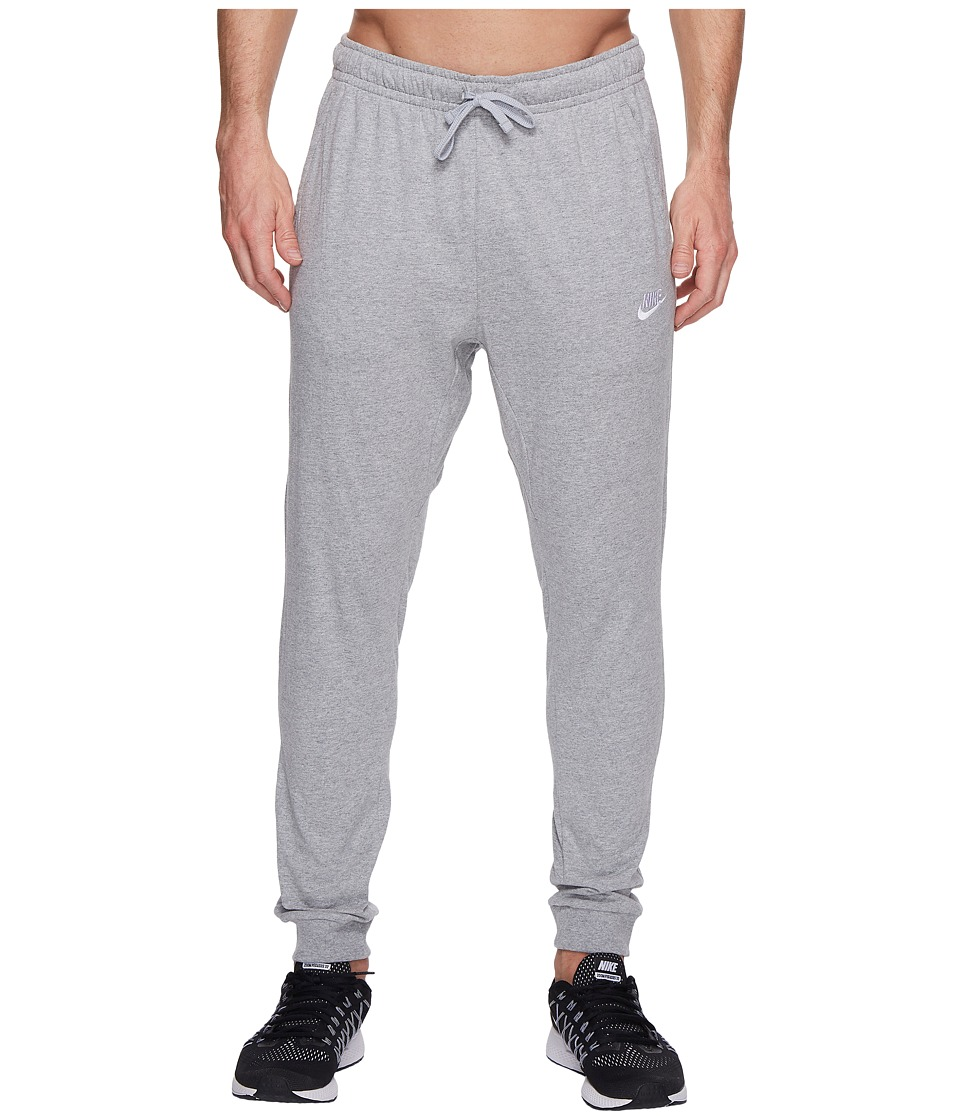 Nike Club Jersey Jogger Pant (Dark Grey Heather/White) Men