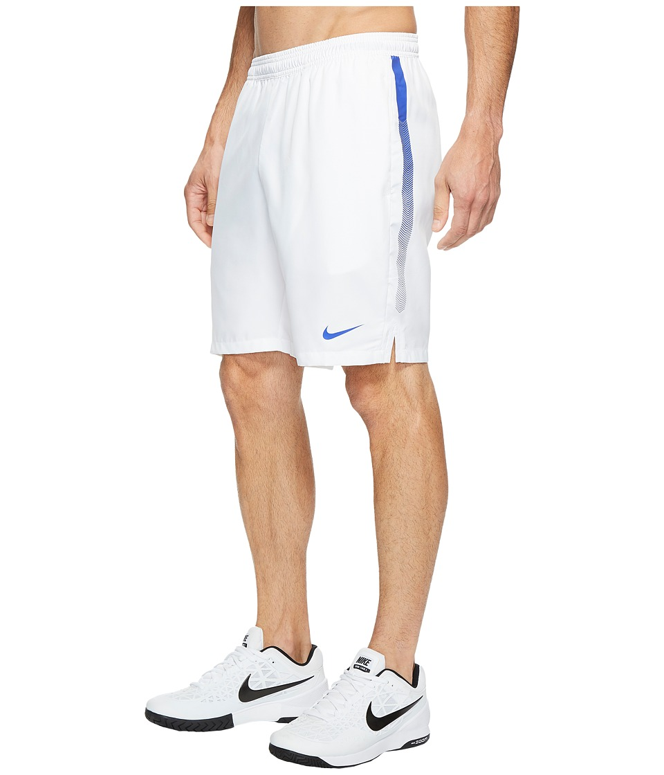 Nike Court Dry 9 Tennis Short (White/Paramount Blue/Paramount Blue) Men