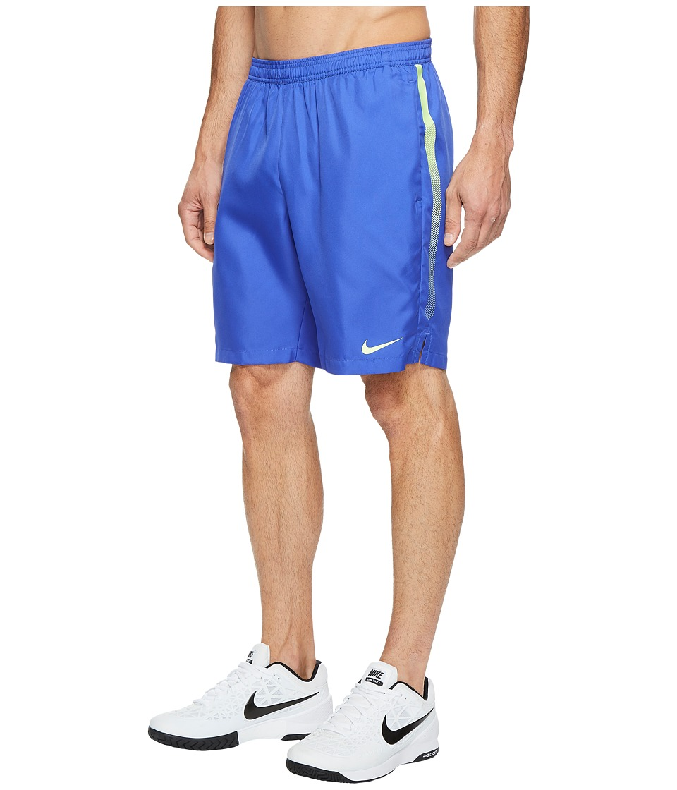 Nike Court Dry 9 Tennis Short (Paramount Blue/Ghost Green/Ghost Green) Men