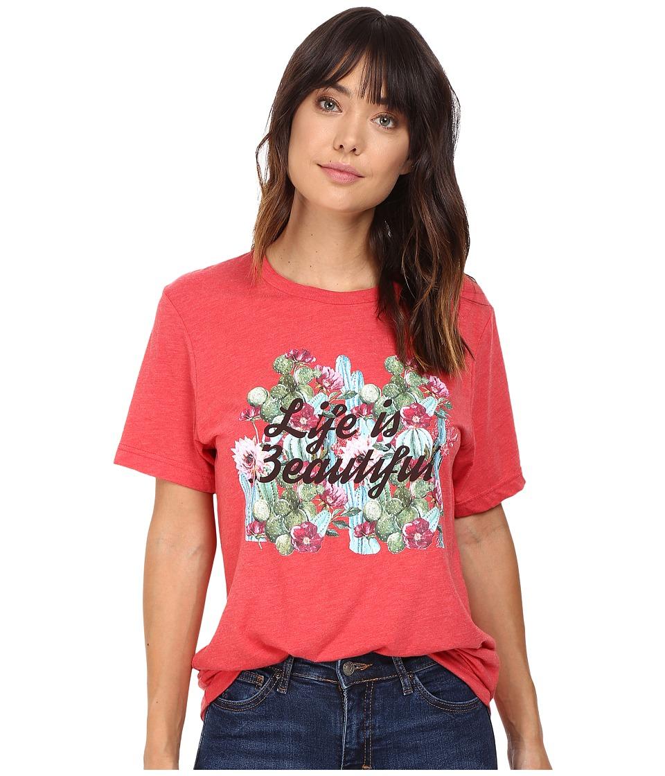 Life is Beautiful - Cactus Script - Crew Neck Tee