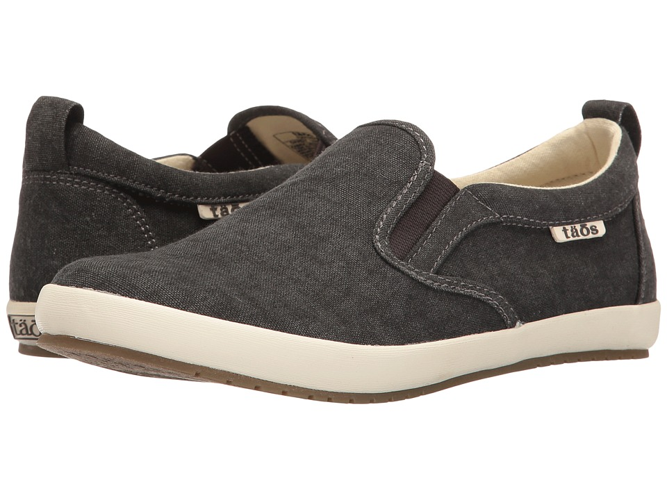 Taos Footwear Dandy (Charcoal Washed Canvas) Women