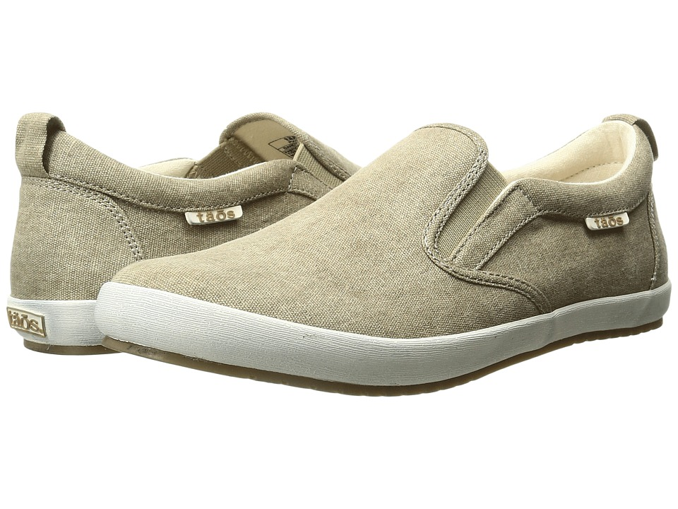 Taos Footwear Dandy (Khaki Washed Canvas) Women