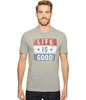 Life is Good - Stars Stripes Crusher Tee