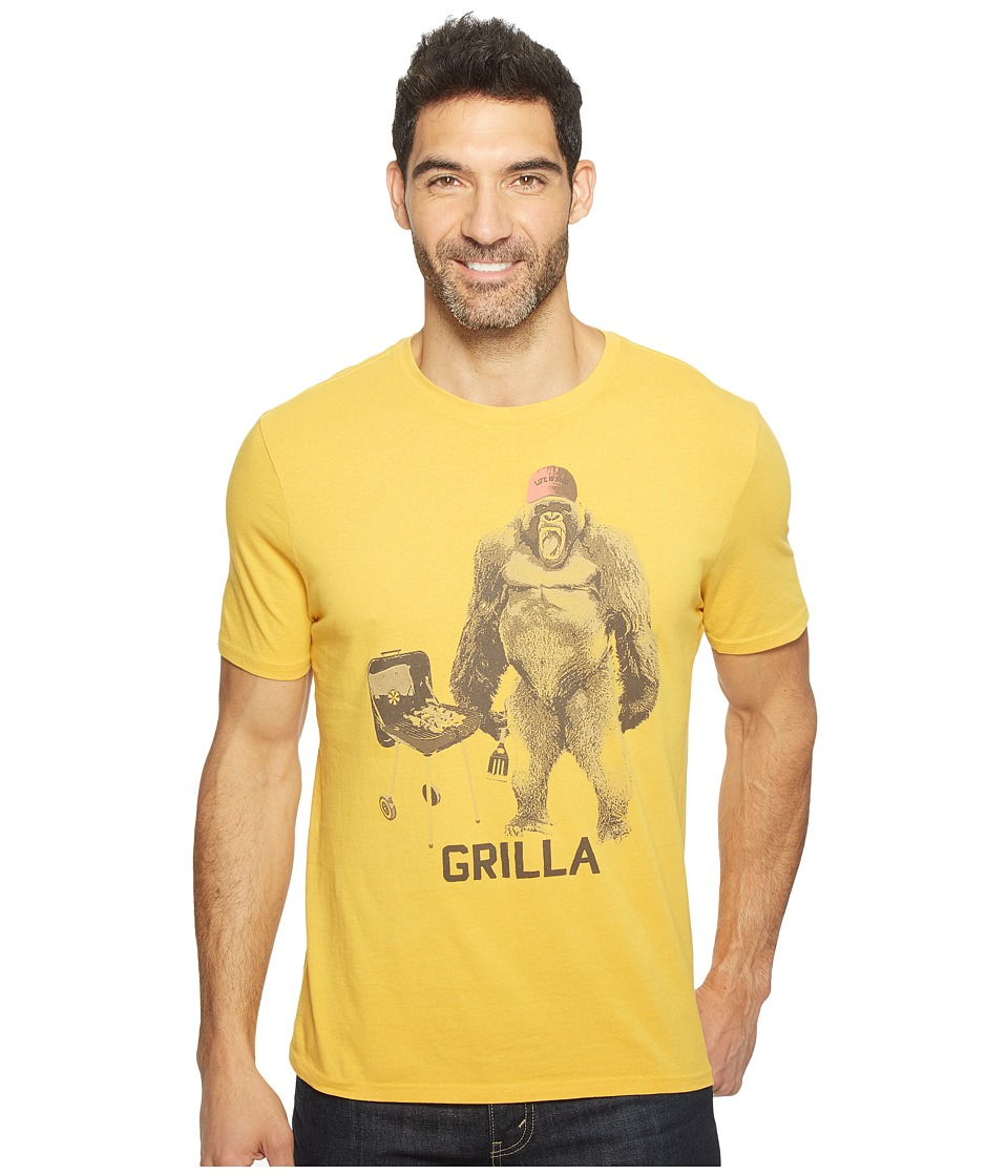 Life is Good Grilla Gorilla Smooth Tee (Summer Gold) Men