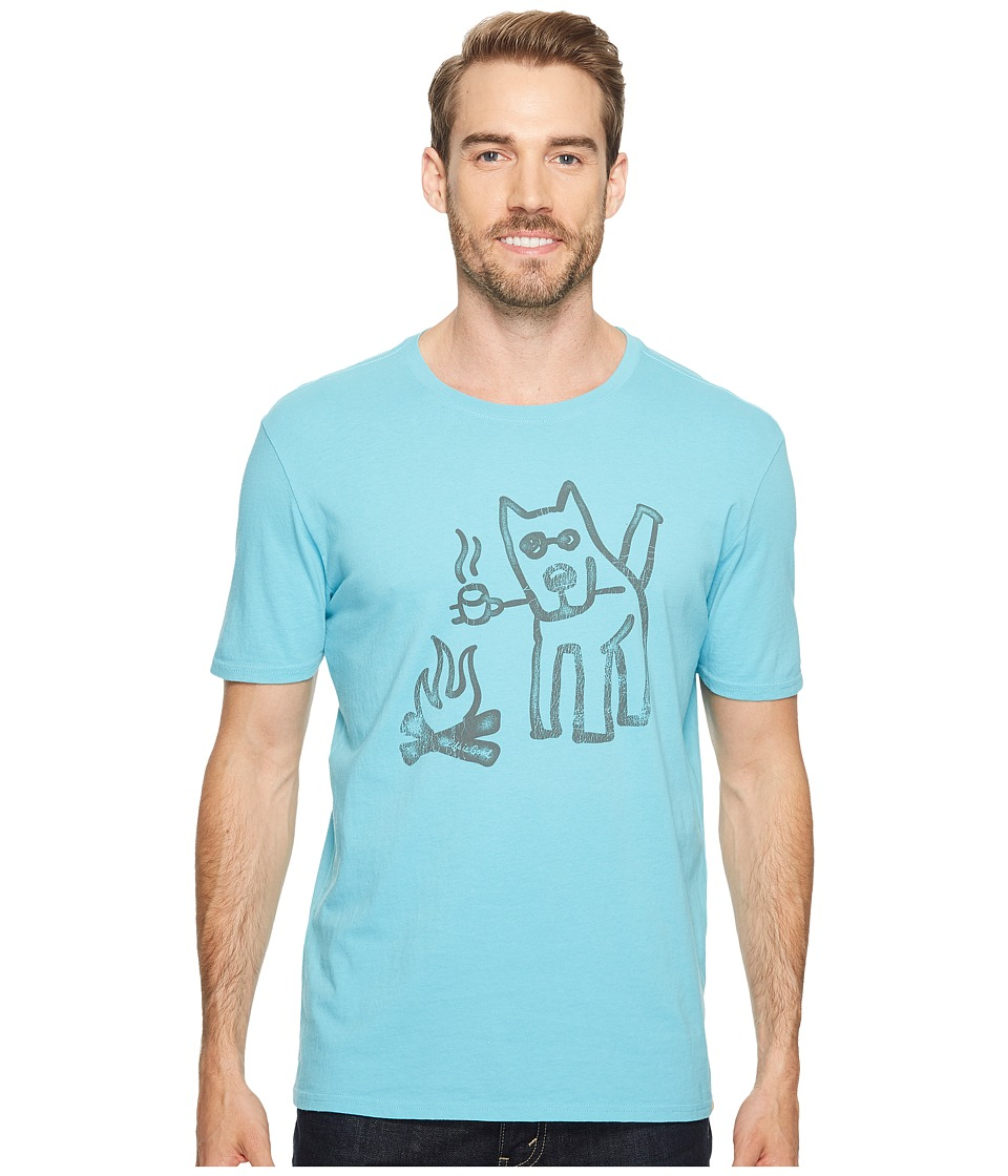 Life is Good Marshmallow Toast Smooth Tee (Bleached Blue) Men