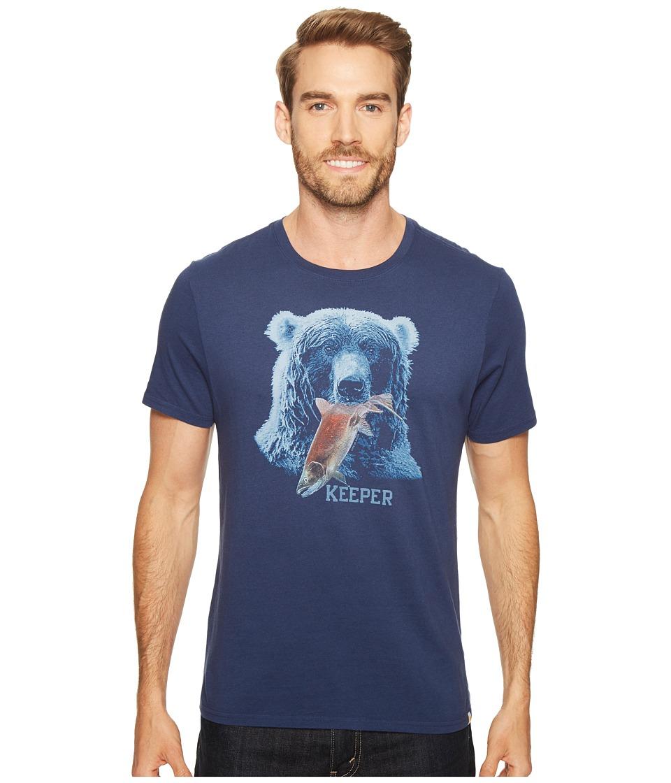 Life is Good Bear Smooth Tee (Darkest Blue) Men