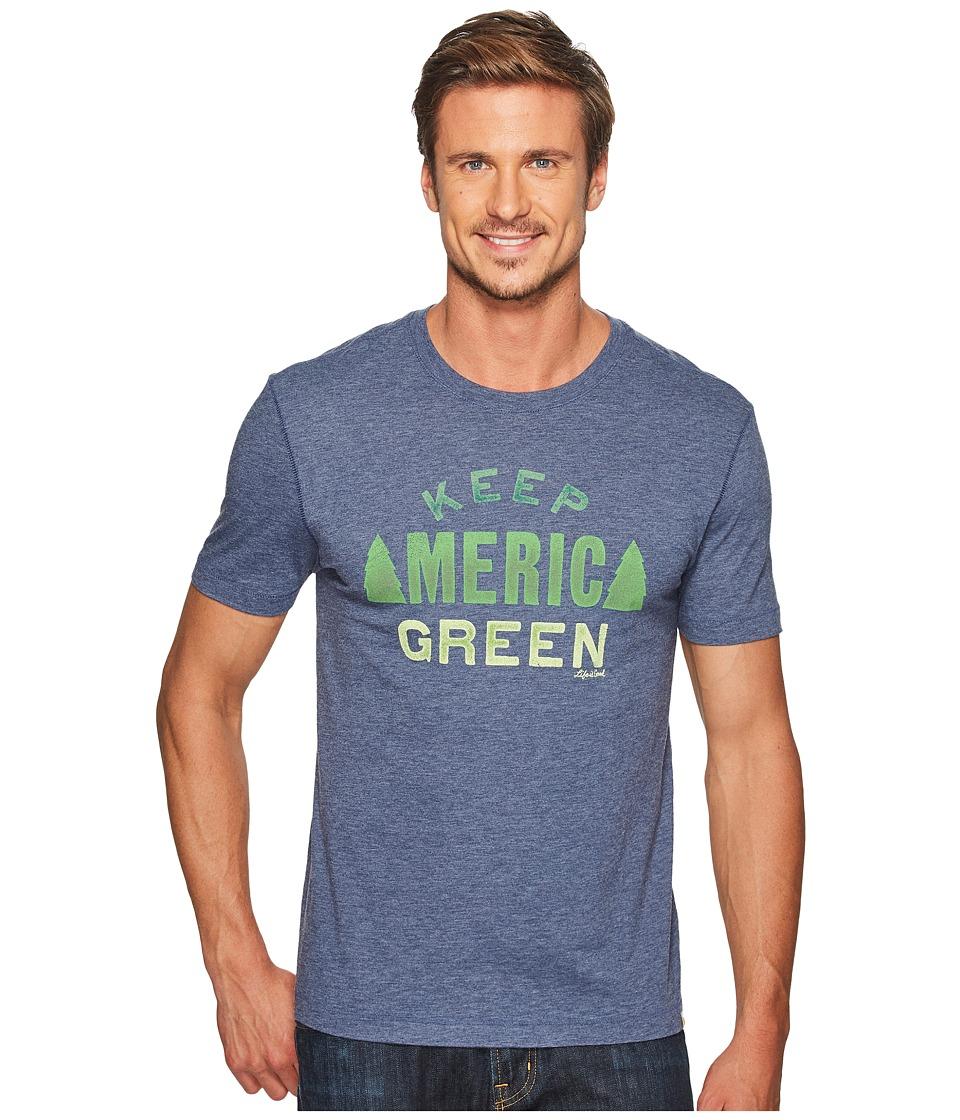 Life is Good Keep America Green Cool Tee (Darkest Blue) Men