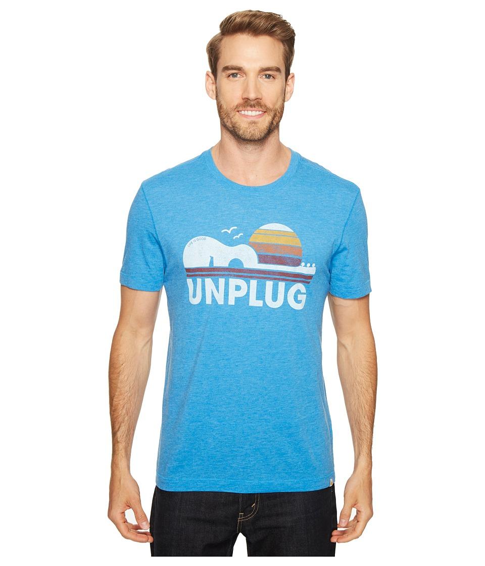 Life is Good Unplug Cool Tee (Marina Blue) Men