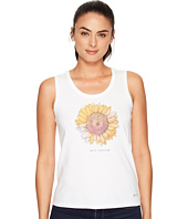 Life is Good - Sunflower Engraved Sleeveless Crusher Tee