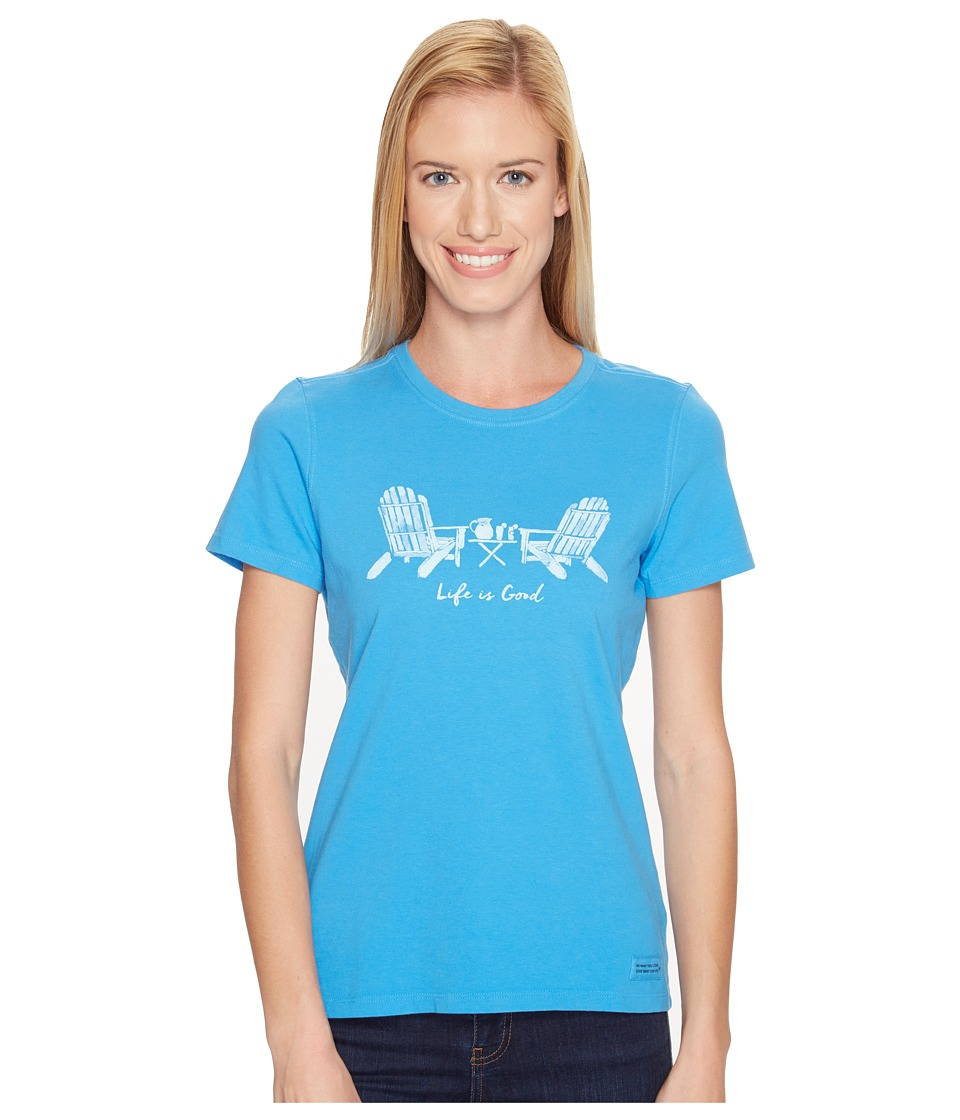 Life is good Adirondack Chairs Crusher Tee (Tile Blue) Women