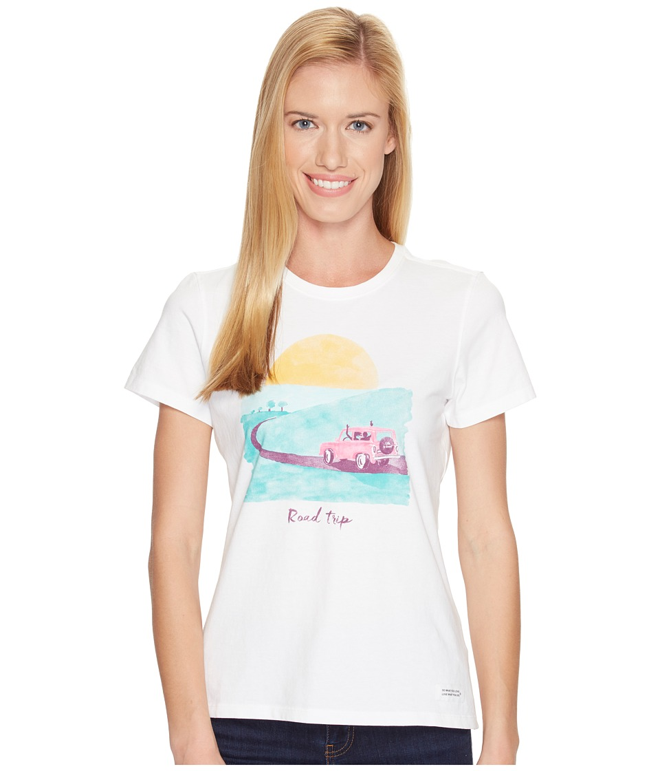 Life is good Road Trip Sunset Crusher Tee (Cloud White) Women