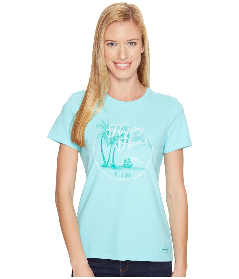 Life is good Happy Hour Watercolor Crusher Tee (Fresh Blue) Women
