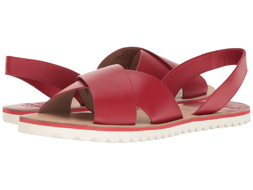 Sebago Sidney Slingback (Red Leather) Women