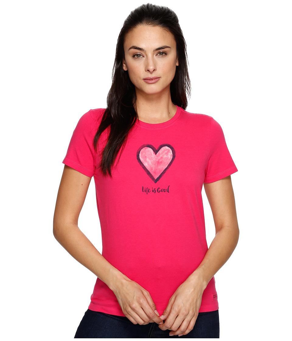 Life is good Heart Crusher Tee (Pop Pink) Women
