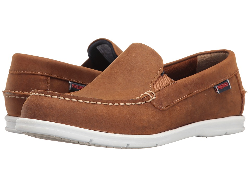 Sebago Liteside Slip-On (Medium Brown Leather) Women