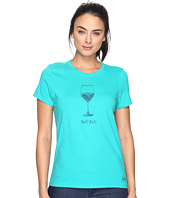 Life is good - Half Full Wine Glass Crusher Tee
