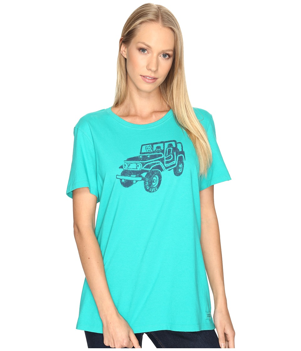 Life is good Offroad 4X4 Crusher Tee (Bright Teal) Women