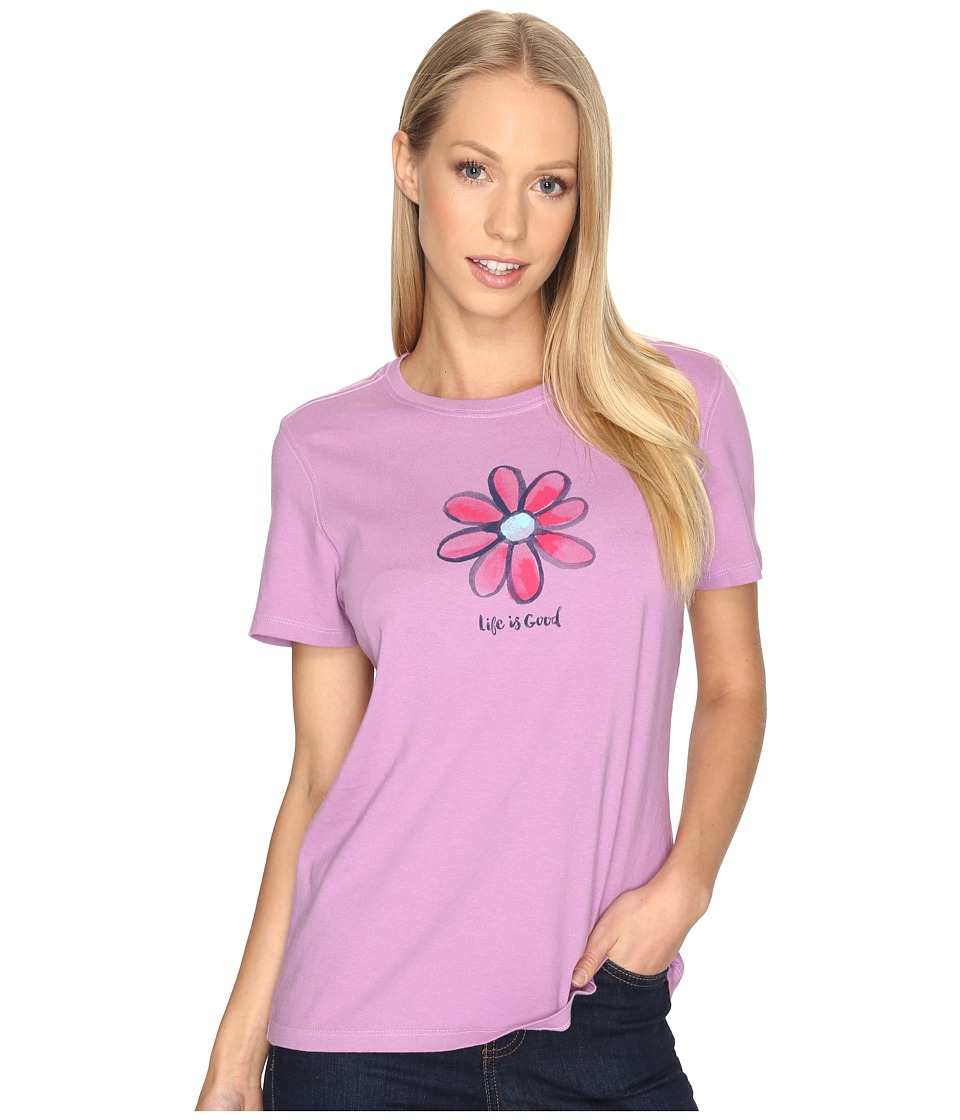 Life is good Daisy Crusher Tee (Dusty Orchid) Women