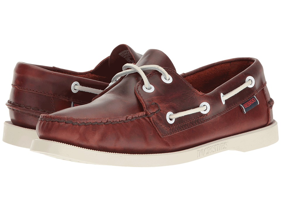 Sebago Docksides Leather (Brown Oiled Waxy Leather) Women