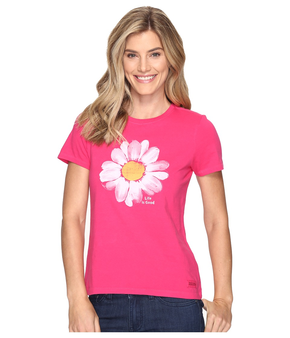 Life is good Daisy Crusher Tee (Pop Pink) Women