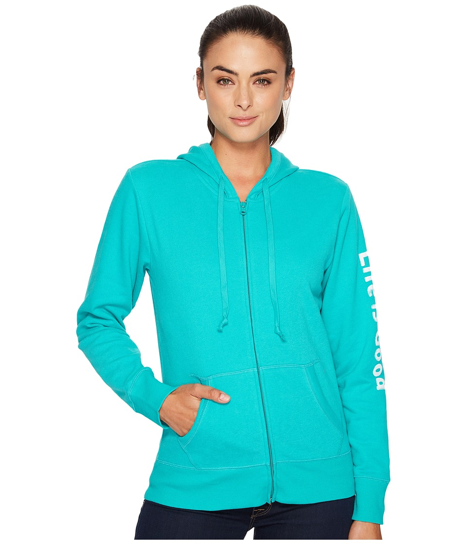 Life is good Life is Good Go-To Zip Hoodie (Bright Teal) Women