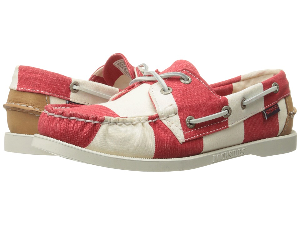 Sebago - Spinnaker (Red/White Striped Canvas) Womens Lace up casual Shoes