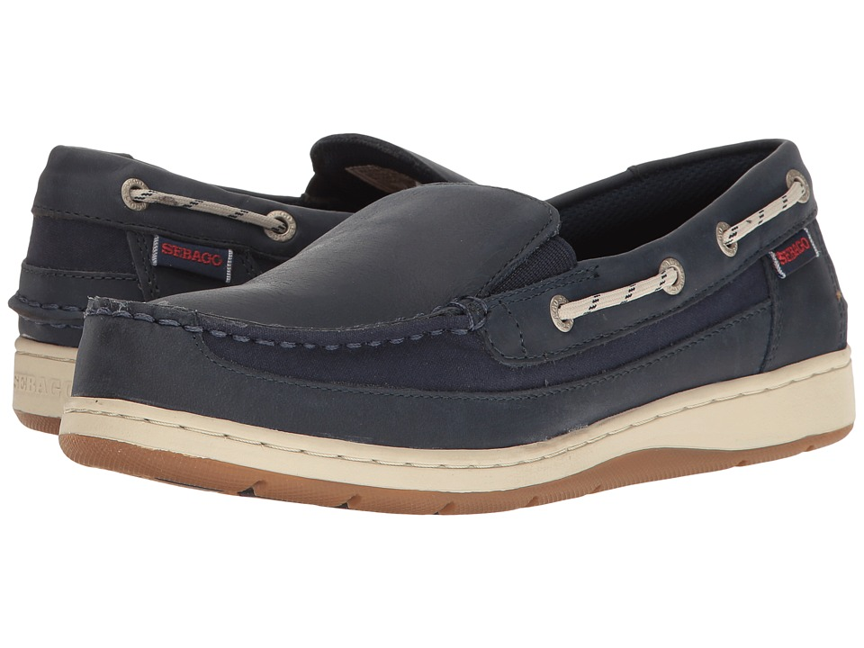 Sebago Maleah Slip-On (Navy Leather) Women
