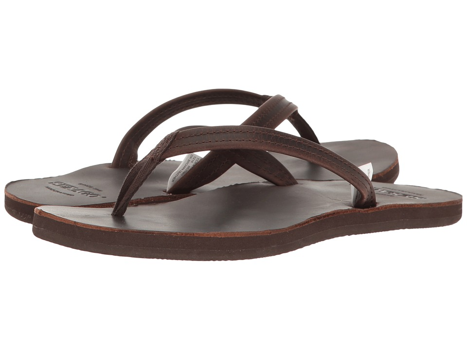 Sebago Tides Flip Flop (Dark Brown Leather) Women