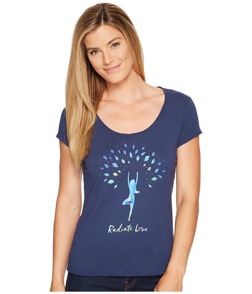 Life is Good Radiate Love Smooth Tee (Darkest Blue) Women