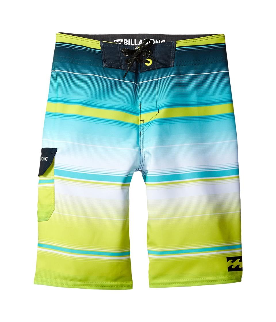 Billabong Kids All Day X Stripe Boardshorts (Big Kids) (Lime) Boy