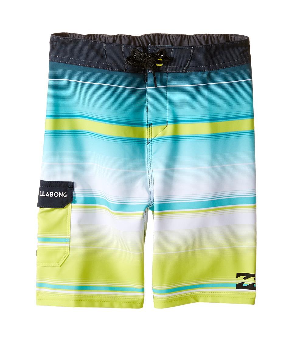 Billabong Kids All Day X Stripe Boardshorts (Toddler/Little Kids) (Lime) Boy