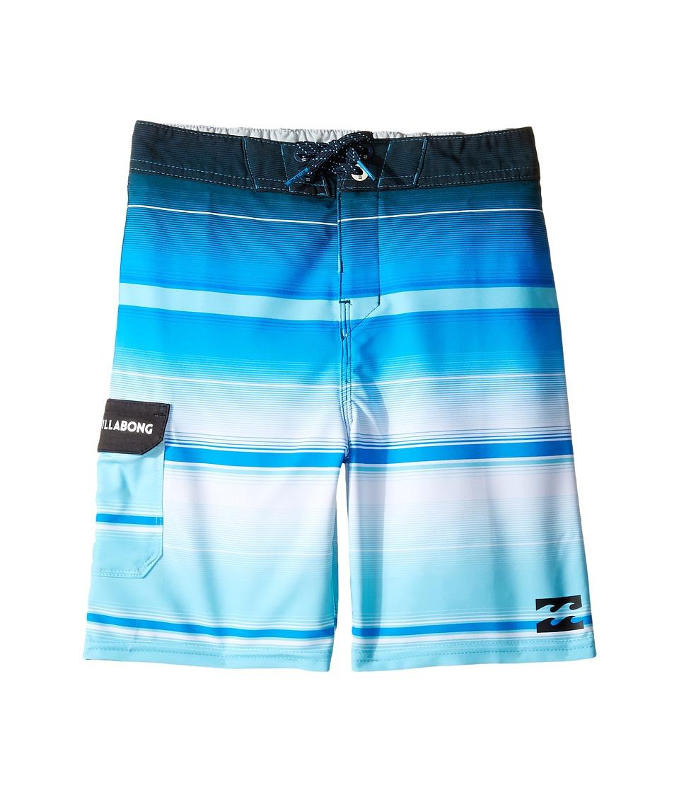 Billabong Kids All Day X Stripe Boardshorts (Toddler/Little Kids) (Blue) Boy