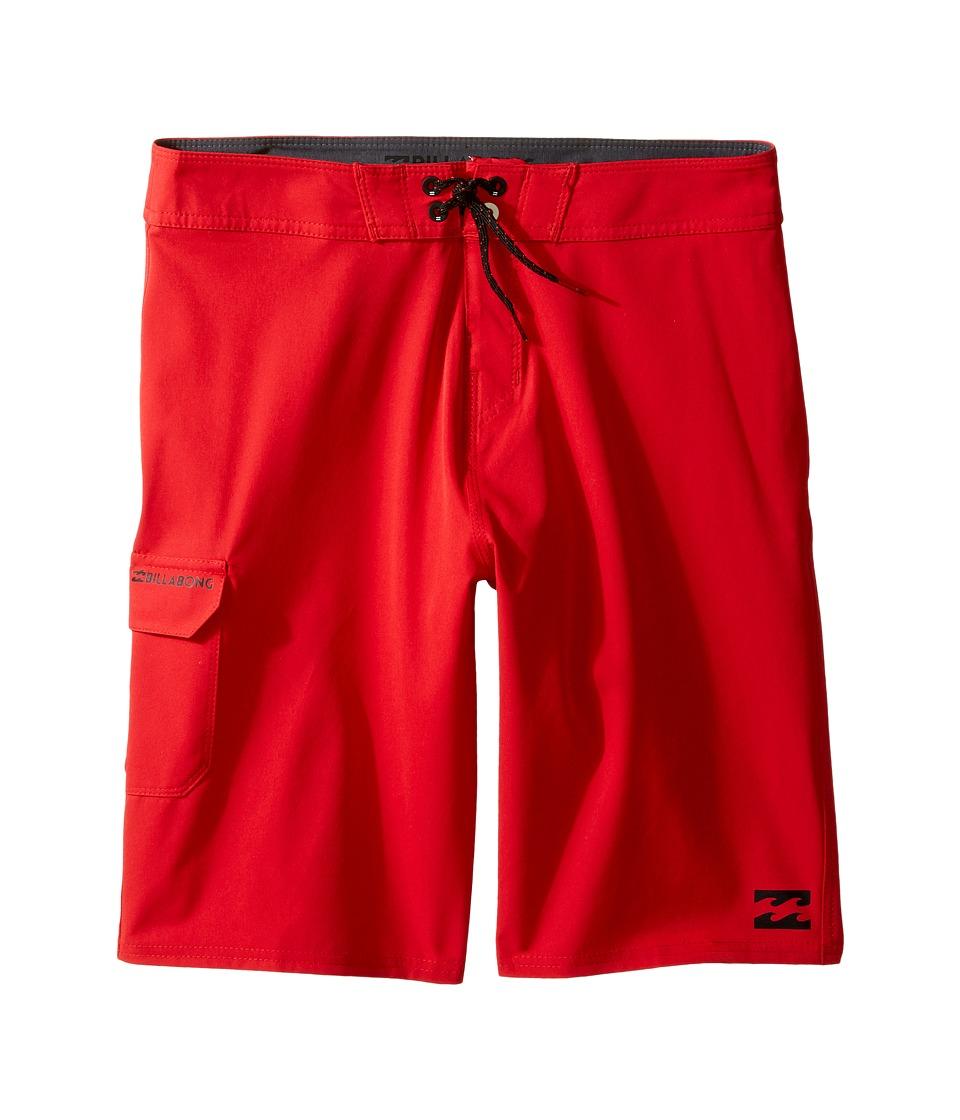 Billabong Kids All Day Boardshorts (Big Kids) (Red) Boy