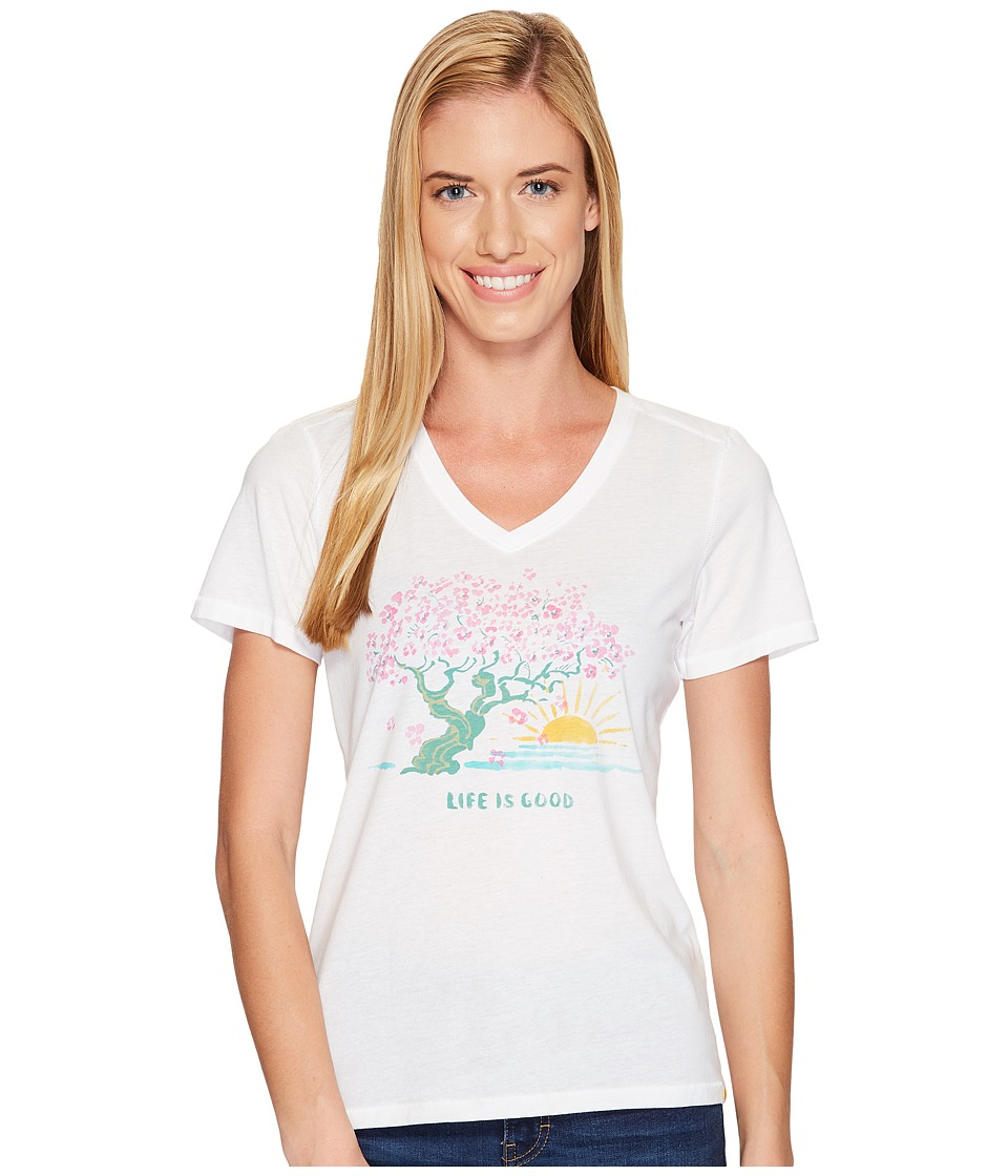 Life is good Blossom Tree Cool Vee (Cloud White) Women