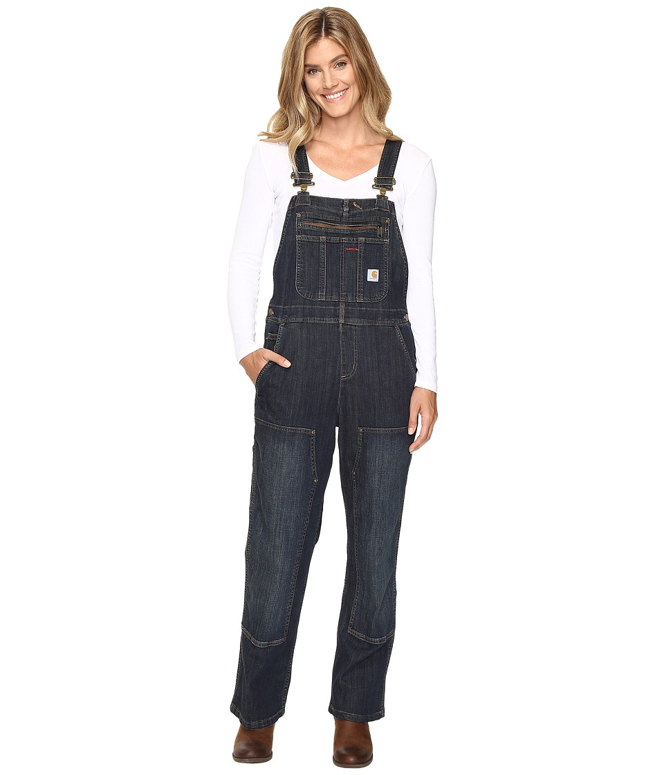 Vintage High Waisted Trousers, Sailor Pants, Jeans Carhartt Brewster Double Front Bib Overalls Timeworn Indigo Womens Overalls One Piece $69.99 AT vintagedancer.com