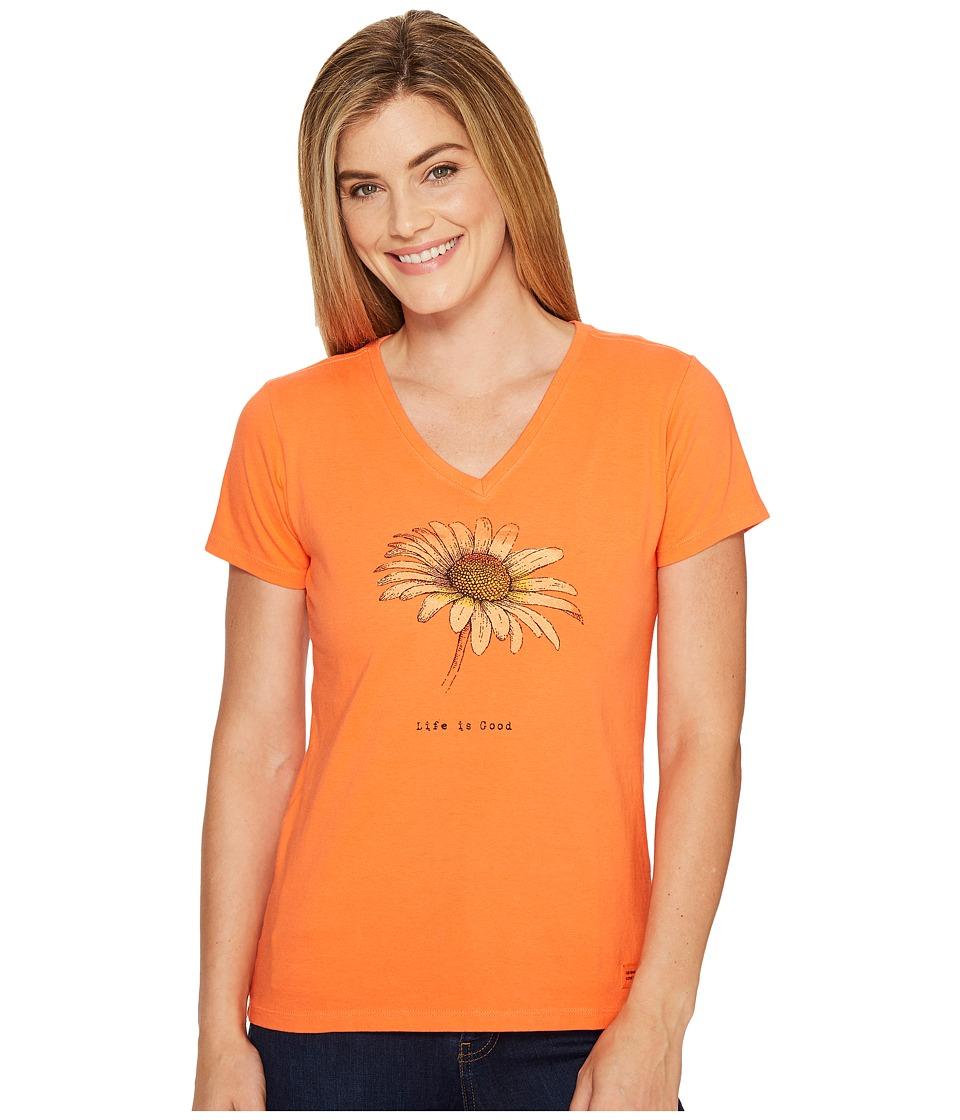 Life is Good Daisy Crusher Vee (Tropical Orange) Women